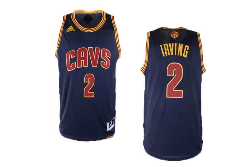 Cavaliers #2 Kyrie Irving Navy Blue Alternate The Finals Patch Stitched NBA Jersey