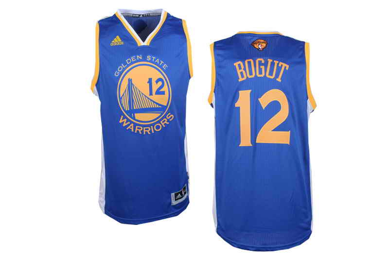 Revolution 30 Warriors #12 Andrew Bogut Blue The Finals Patch Stitched NBA Jersey