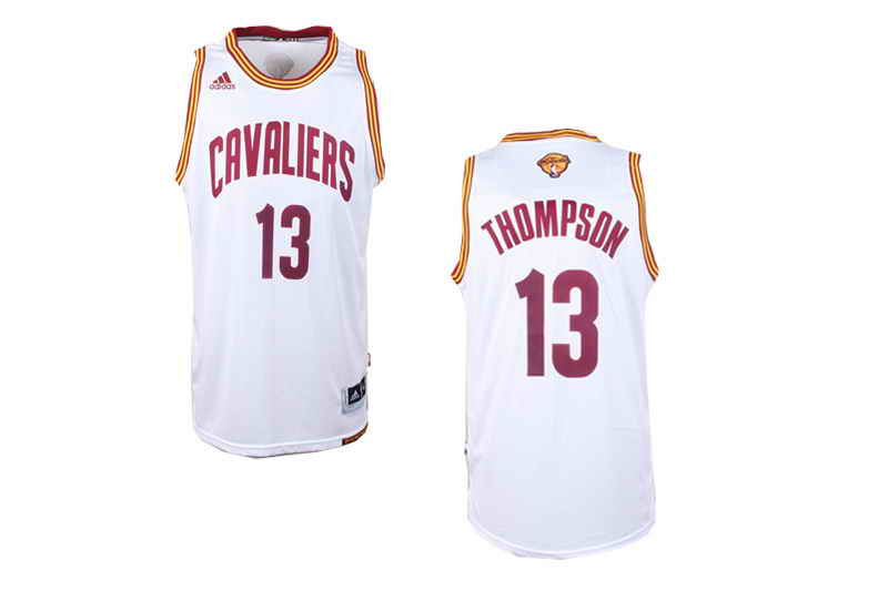 Cavaliers #13 Tristan Thompson White Alternate The Finals Patch Stitched NBA Jersey
