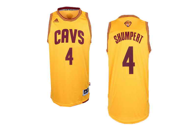 Cavaliers #4 Iman Shumbert Yellow Alternate The Finals Patch Stitched NBA Jersey