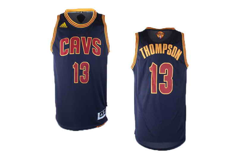 Cavaliers #13 Tristan Thompson Navy Blue Alternate The Finals Patch Stitched NBA Jersey