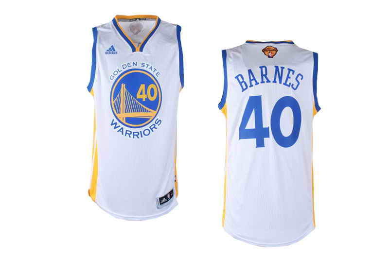 Revolution 30 Warriors #40 Harrison Barnes White The Finals Patch Stitched NBA Jersey