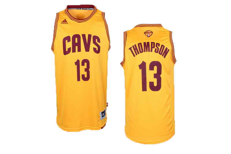 Cavaliers #13 Tristan Thompson Yellow Alternate The Finals Patch Stitched NBA Jersey