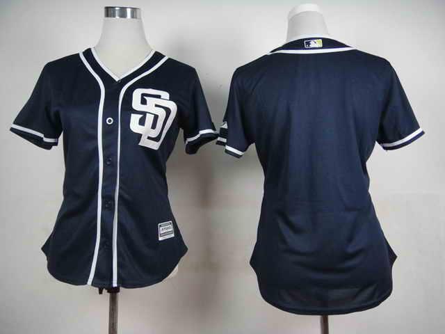 San Diego Padres Blank Dark Blue 2015 Cool Base Women Jersey