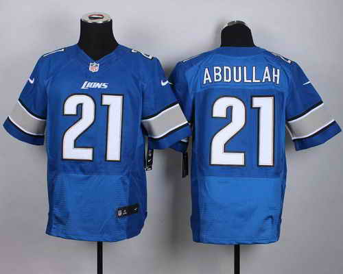 Nike Lions #21 Ameer Abdullah Blue Team Color Men's Stitched NFL Elite Jersey