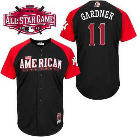 Men's American League New York Yankees #11 Brett Gardner 2015 MLB All-Star Black Jersey