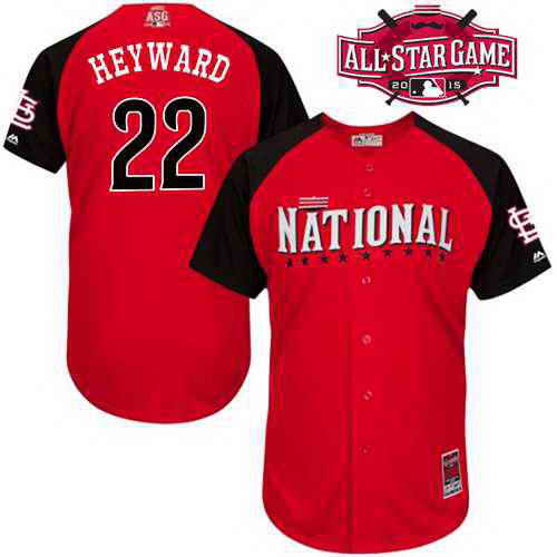 Men's National League St. Louis Cardinals #22 Jason Heyward 2015 MLB All-Star Red Jersey
