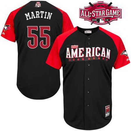 Men's American League Toronto Blue Jays #55 Russell Martin 2015 MLB All-Star Black Jersey