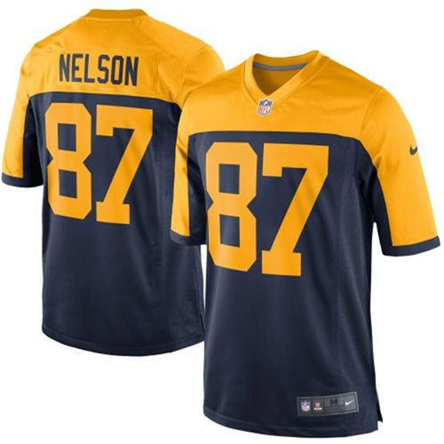 Nike Packers #87 Jordy Nelson Navy Blue Alternate Youth Stitched NFL New Elite Jersey
