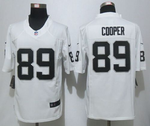 Nike Raiders #89 Amari Cooper White Men's Stitched NFL Game Jersey