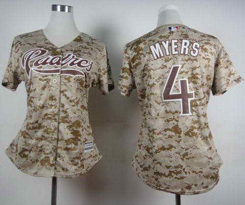Padres #4 Wil Myers Camo Alternate 2 Women's Stitched MLB Jersey