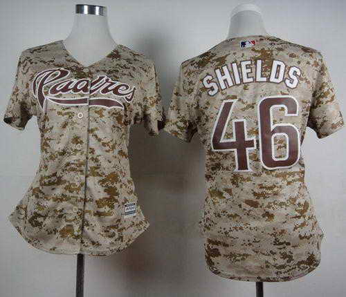 Padres #46 Craig Kimbrel Camo Alternate 2 Women's Stitched MLB Jersey