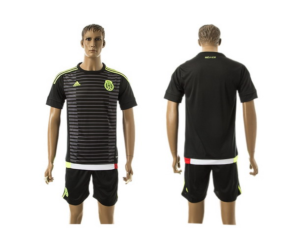 2015-16 Mexico National Team Blank Home Soccer Shirt Kit1