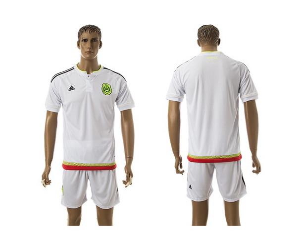 2015-16 Mexico National Team Blank Home Soccer Shirt Kit