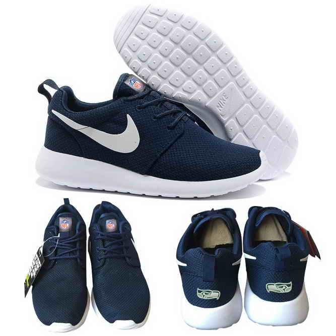 Nike Seattle Seahawks London Olympics Navy Blue Shoes