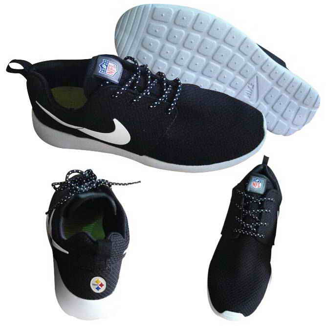 Nike Pittsburgh Steelers London Olympics Black Shoes2
