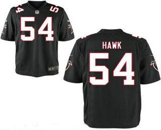 Stitched Atlanta Falcons #54 A. J. Hawk Black Alternate NFL Nike Elite Jersey