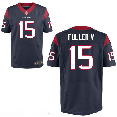 Houston Texans #15 Will Fuller V Navy Blue Team Color Stitched NFL Elite Jersey