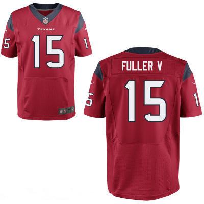 Houston Texans #15 Will Fuller V Red Team Color Stitched NFL Elite Jersey