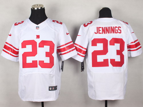 Nike New York Giants #23 Rashad Jennings White Elite Jersey