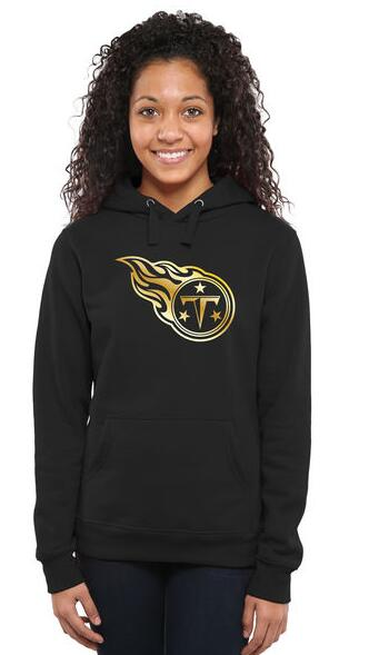 Women's Tennessee Titans Pro Line Black Gold Collection Pullover Hoodie