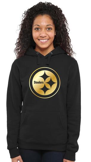 Women's Pittsburgh Steelers Pro Line Black Gold Collection Pullover Hoodie