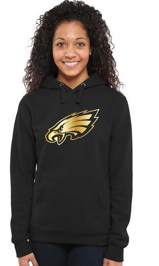 Women's Philadelphia Eagles Pro Line Black Gold Collection Pullover Hoodie