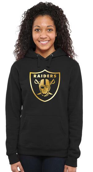 Women's Oakland Raiders Pro Line Black Gold Collection Pullover Hoodie