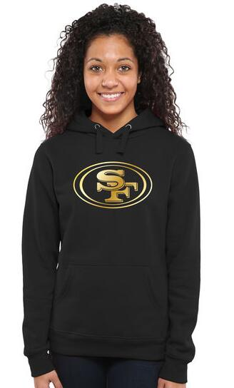 Women's San Francisco 49ers Pro Line Black Gold Collection Pullover Hoodie