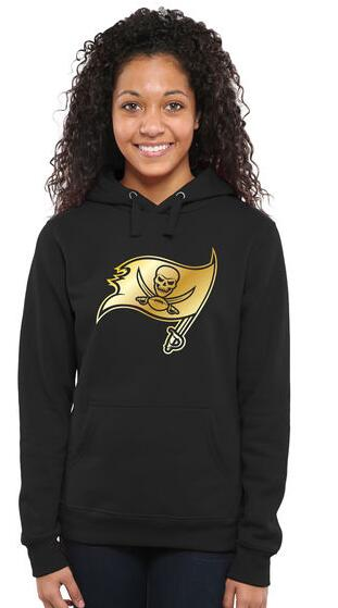 Women's Tampa Bay Buccaneers Pro Line Black Gold Collection Pullover Hoodie