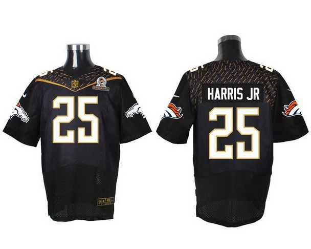Denver Broncos #25 Chris Harris Jr Black 2016 Pro Bowl Nike Elite Jersey