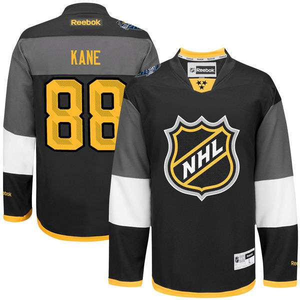 NHL #88 Patrick Kane Black 2016 All-Star Premier Jersey