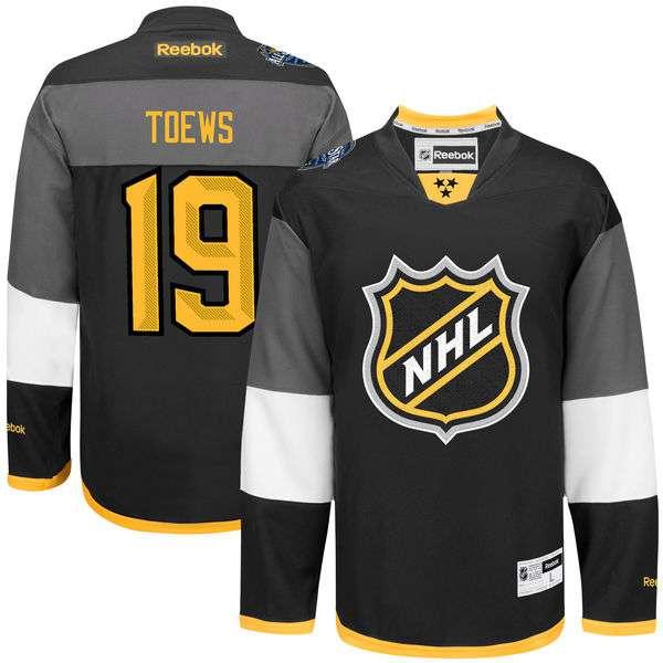 NHL #19 Jonathan Toews Black 2016 All-Star Premier Jersey