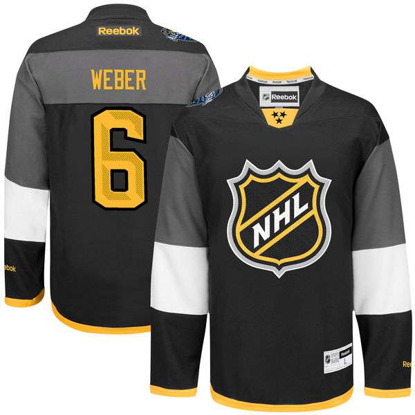 NHL #6 Shea Weber Black 2016 All-Star Premier Jersey