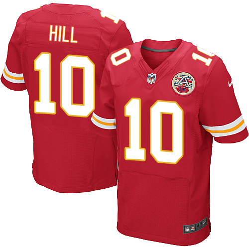 Men's Nike Kansas City Chiefs #10 Tyreek Hill Elite Red Team Color Jersey