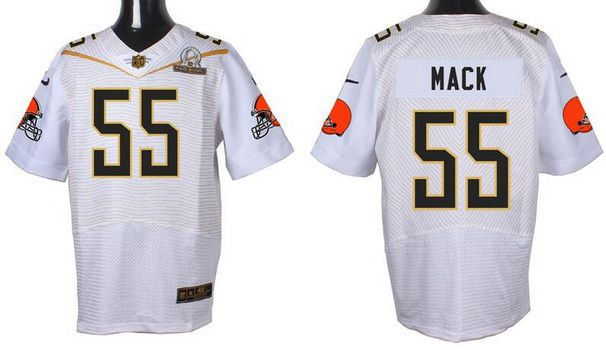 Men's Cleveland Browns #55 Alex Mack White 2016 Pro Bowl Nike Elite Jersey