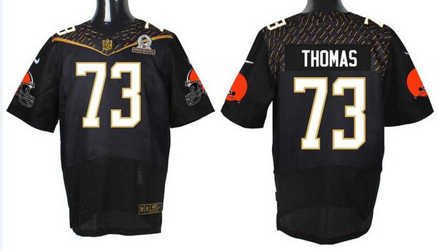 Men's Cleveland Browns #73 Joe Thomas Black 2016 Pro Bowl Nike Elite Jersey