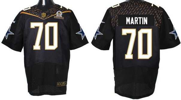 Men's Dallas Cowboys #70 Zack Martin Black 2016 Pro Bowl Nike Elite Jersey