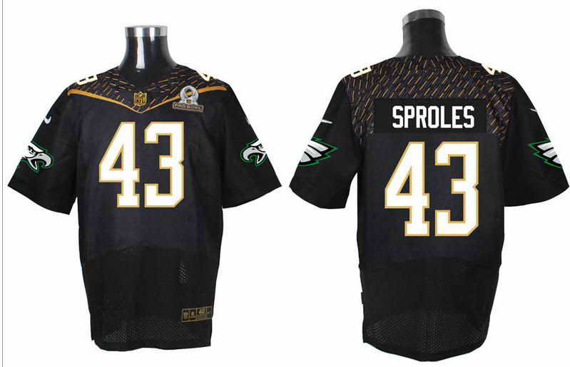 Nike Philadelphia Eagles #43 Darren Sproles Black 2016 Pro Bowl Elite Jersey
