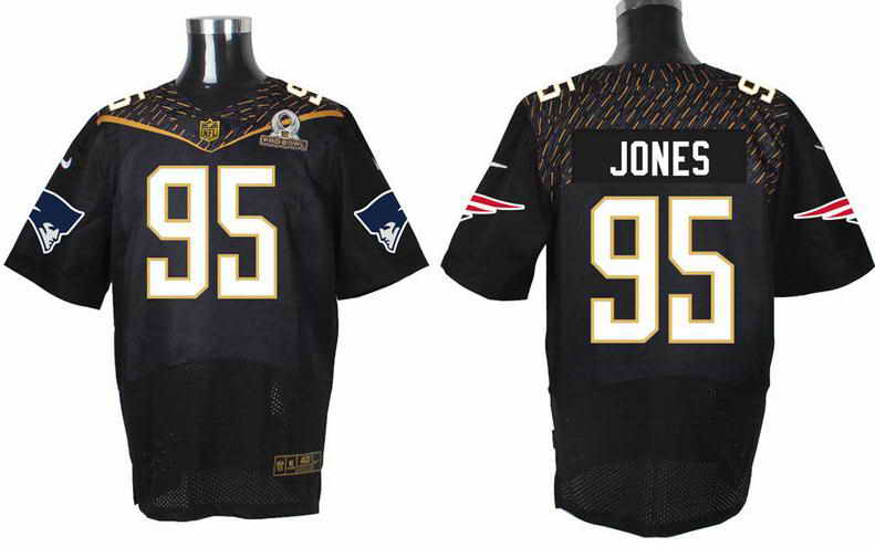 Nike New England Patriots #95 Chandler Jones Black 2016 Pro Bowl Elite jersey