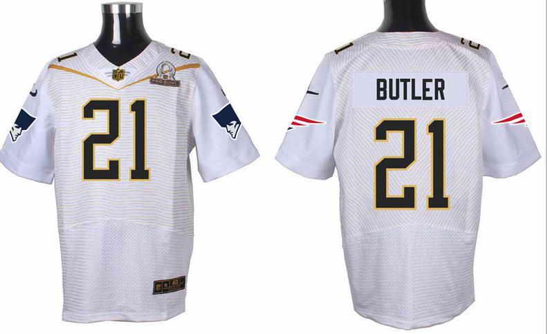 Nike New England Patriots #21 Malcolm Butler White 2016 Pro Bowl Elite Jersey