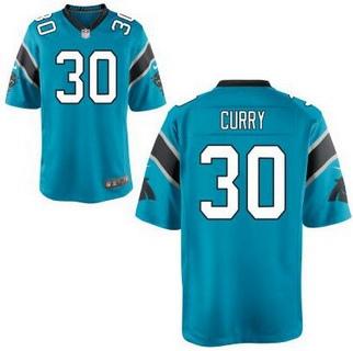 Men's Carolina Panthers #30 Stephen Curry Light Blue Alternate NFL Nike Elite Jersey