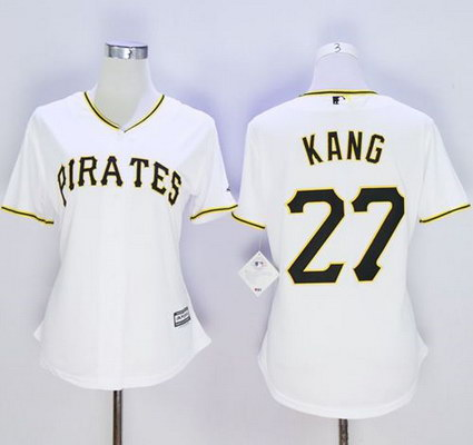 Women's Pittsburgh Pirates #27 Jung-ho Kang White Home Stitched Baseball Jersey