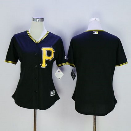Women's Pittsburgh Pirates Blank Black Fashion Stitched MLB Jersey
