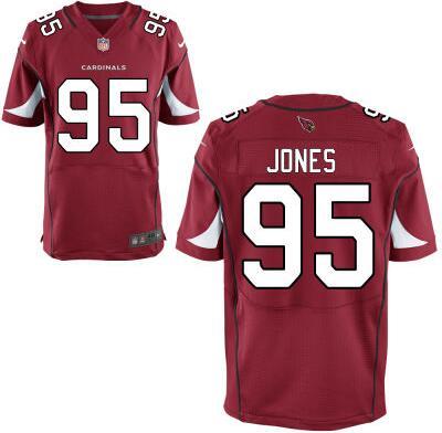 Arizona Cardinals #95 Chandler Jones Red Team Color NFL Nike Elite Jersey