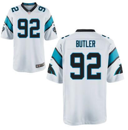 Men's Carolina Panthers #90 Vernon Butler Nike White Elite 2016 Draft Pick Jersey