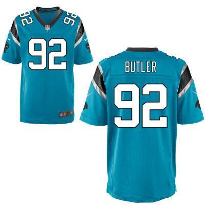 Men's Carolina Panthers #92 Vernon Butler Nike White Elite 2016 Draft Pick Jersey