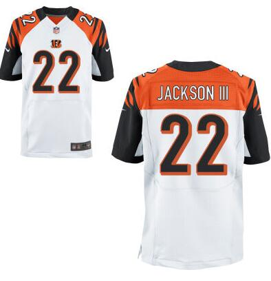 Men's Cincinnati Bengals #22 William Jackson III Nike White Elite 2016 Draft Pick Jersey