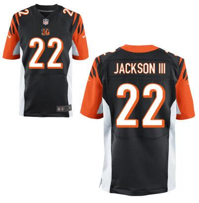 Men's Cincinnati Bengals #22 William Jackson III Nike Black Elite 2016 Draft Pick Jersey