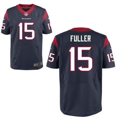 Men's Houston Texans #15 Will Fuller Nike Navy Blue Elite 2016 Draft Pick Jersey